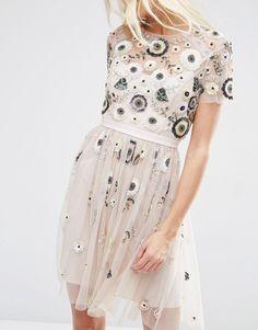 Image 3 ofNeedle & Thread Tulle Woodland Lace Embellished Dress                                                                                                                                                                                 More