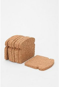 who wouldn't like a slice of bread as a coaster?  It would definitely make a few guests look twice!