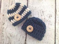 Crochet Baby Hats Crochet Baby Boy Hat Newborn Boy Hat Chunky by PiecesByChris...