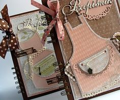 Recipe Books, LOVE the detail!  No tutorial just picture.