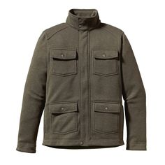 Patagonia Men's Better Jacket - This comfortable, durable jacket has a stand-up collar, yoke detail on the back and is made of sweater-knit polyester fleece.