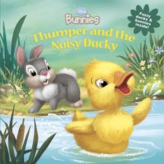 Disney Bunnies Thumper and the Noisy Ducky by Laura Driscoll http://www.amazon.com/dp/1423184874/ref=cm_sw_r_pi_dp_yei4wb0PD9JSX