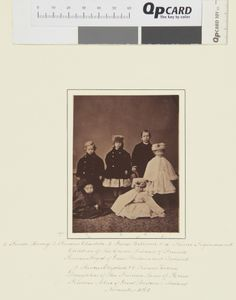 The children of the Crown Princess of Prussia, and the children of Princess Louis of Hesse, 1865 [in Portraits of Royal Children Vol.9 1865]...