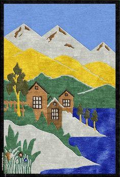 Alpine Village Contemporary - Make your own custom are rug at www.HighCountryRugs.com