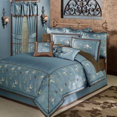 Sutton Embroidered Comforter Bedding