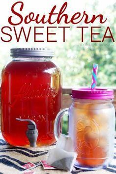 How to make original Southern Sweet tea plus a secret ingredient to make it even better. So, You should make this. Yum!