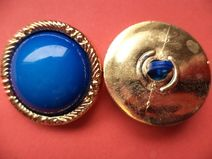 7 grosse Knöpfe blau 28mm (4807-4) Mantelknöpfe