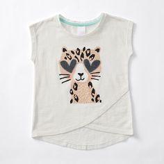 Short Sleeve Overlap T-Shirt