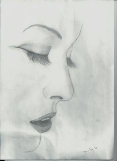 sketched face with eyes closed - Google Search