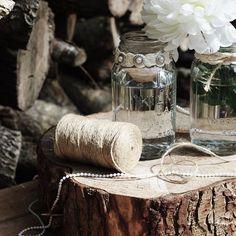 #Vintage #Kilner #Craft Kilner Jars, Jar Crafts, Craft Ideas, Table Decorations, Make It Yourself, Vintage, Home Decor, Decoration Home, Room Decor