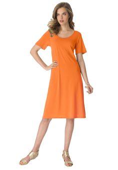 Plus Size Flared Tee Dress