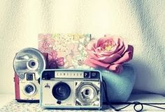 An old vintage camera would look cool as prop for the guestbook table too!!
