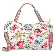 Rainbow Rose Zipped Handbag with Detachable Strap