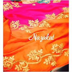 """Now this dupatta is absolutely Beautiful Gorgeous dupatta with the bling of gotta patti detailing. Now this one is perfect to add the perfect bling to any outfit ❤️ Statement dupattas are a must have in every girl's wardrobe! Now this dupatta can also be paired up with a lehenga or a suit! We also take custom orders! Colour can be customised DM or whatsapp for details Shipping worldwide For more designs: www.facebook.com/nazakatjal or click on the link in our """"BIO"""" #magenta #orange #hotpi..."""