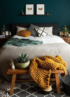 Interior, Home Decor Bedroom, Home Bedroom, Home Remodeling, Cheap Home Decor, Bedroom Green, Home Decor, House Interior, Small Bedroom
