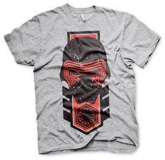 Camiseta Kylo Ren distressed. Star Wars Episodio VII Estupenda camiseta con el título Kylo Ren distressed, perteneciente al film Star Wars Episodio VII: El Despertar de la Fuerza, 100% oficial, licenciada y fabricada en material 100% algodón.