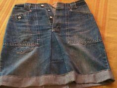 gonna ricavata da jeans lunghi