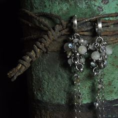 Labradorite earrings Sterling silver earrings by karolinaadamus