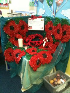 A super Remembrance Sunday classroom display photo contribution. Great ideas for your classroom! School Displays, Classroom Displays, Day Work, Fun At Work, Catholic Schools Week, Poppy Craft, Remembrance Sunday, Anzac Day, Book Corners