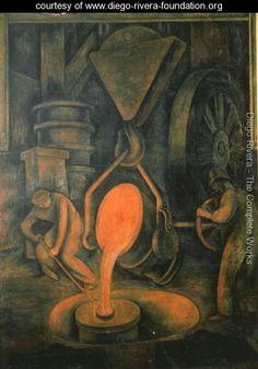Diego María de la Concepción Juan Nepomuceno Estanislao de la Rivera y Barrientos Acosta y Rodríguez, known as Diego Rivera (December 8, 1886 – November 24, 1957) was a prominent Mexican painter and the husband of Frida Kahlo. His large wall works in fresco helped establish the Mexican Mural Movement in Mexican art