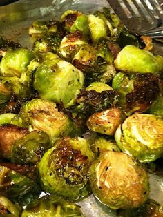 : Who thinks they absolutely despise Brussels Sprouts?  This recipe might change your mind :)