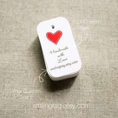 I Heart You Personalised Gift Tags - Wedding Favor Tags - Thank you tags-  Hang tags - Wedding Gift Tags - Set of 40 (Item code: J213)