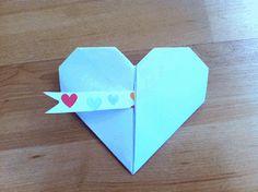 como hacer un corazón de origami