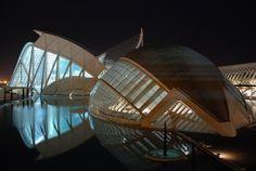 Valencia - (España) - Ciudad de las Artes y de las Ciencias - by night | Flickr - Photo Sharing!