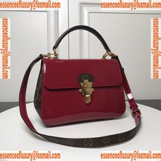 259f9d54cf707 Louis Vuitton Cherrywood PM Patent Leather Top Handle Bag LV Luxury Bags  M53355 29x20x12CM A156PP880 AA67621