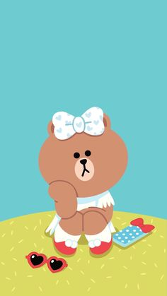 Check out this awesome collection of Line Friends wallpapers, with 42 Line Friends wallpaper pictures for your desktop, phone or tablet. Bright Wallpaper, Lines Wallpaper, Brown Wallpaper, Bear Wallpaper, Aesthetic Iphone Wallpaper, Hello Kitty Accessories, Web Design, Kawaii Doodles, Pikachu