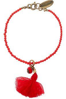 Isabel Marant  Pop Color beaded brass bracelet