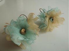 Lime mint flowers by Martinuska - SAShE.sk - Handmade Náušnice