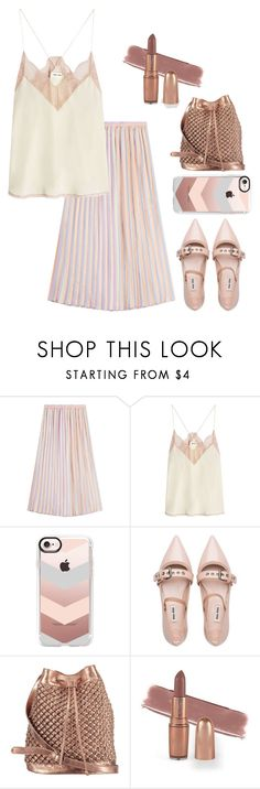 """Silky Pink Vibes"" by josie-land ❤ liked on Polyvore featuring Marco de Vincenzo, Zadig & Voltaire, Casetify, Miu Miu and nooki design"