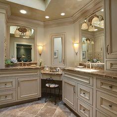 Benefits of Remodeling Bathrooms   Double sinks  Vanities and Cabinets. Double Sink Corner Vanity. Home Design Ideas