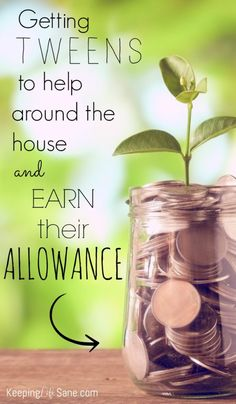 Getting tweens to help around the house can be torture! Here are a few ways to get them to do their chores and earn their allowance.