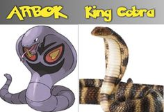 Arbok King Cobra. Reptile Pokémon GO snake lizard. Pokemon