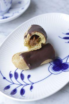 Paris-Paris | Whole-Wheat Èclairs with Hazelnut Non-Dairy Cream and Chocolate Glaze - Ever Open Sauce