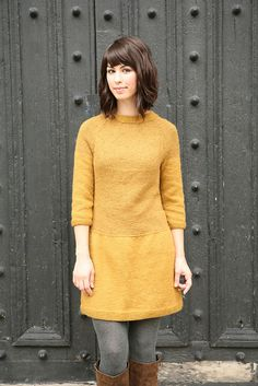 """Shinjuku"" #knit dress pattern by Cirilia Roase"