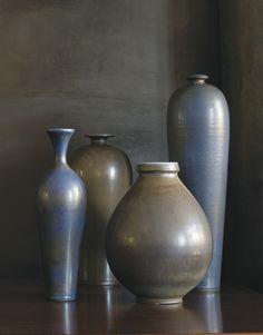 BERNDT FRIBERG, Set of ceramic vases, c.1960s. Material glazed stoneware. Handmade by Gustavsberg Ab, Sweden. / Sotheby's