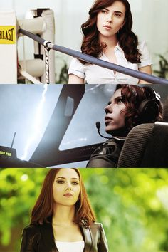 .Black Widow through the movies. (Iron Man 2, The Avengers, Captain America: The Winter Soldier)