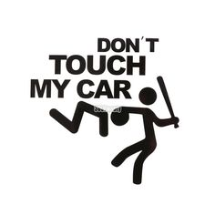 Sailnovo x Funny Car Stricker Don't Touch My Car Pattern Sticker Car Bumper Window Wall Decal Sticker Auto Stickers Wall Decal Sticker, Car Decals, Silhouette Curio Projects, Dont Touch Me, Window Wall, Car Humor, Car Stickers, Cricut, Funny