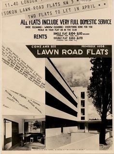 isokon building / lawn road flats, by wells coates and jack pritchard, london, 1934 @tate
