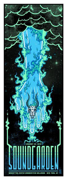 INSIDE THE ROCK POSTER FRAME BLOG: Jim Mazza Soundgarden New York City Poster Release Details