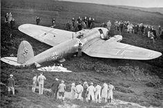 First Nazi plane shot down in UK