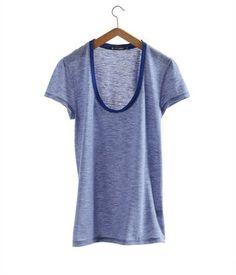 T-shirt femme en jersey flammé milleraies