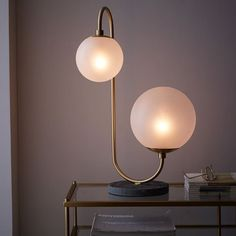 Pelle Table Lamp - Asymmetrical | west elm $249 /// casual living room or piano room