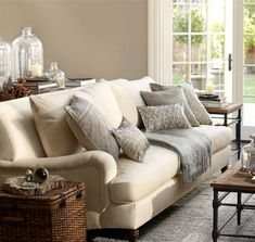 a great looking sofa from Pottery Barn