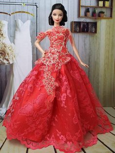 Barbie in Red Lace Dress