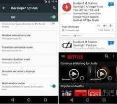 Android M cuenta con funcionalidad multiventana