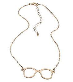 Blu Bijoux Gold Eye Glass Necklace